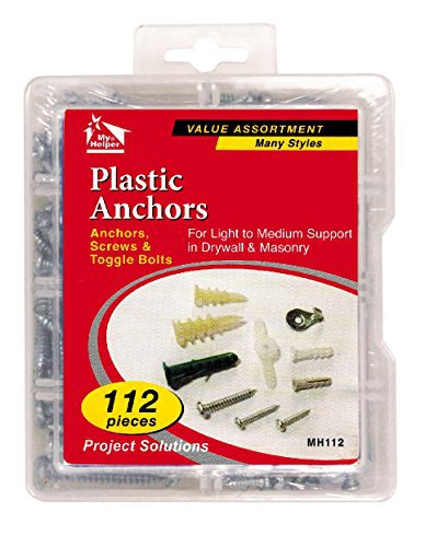 112 Pieces Hollow Wall Anchor Kit, Anchors, Screws & Toggle Bolts Many Styles by