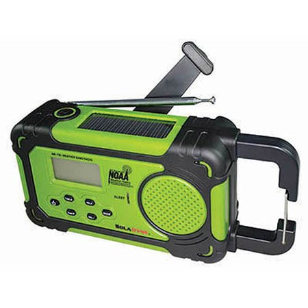 Image of Emergency Alert Radio and Flashlight, Lime Green