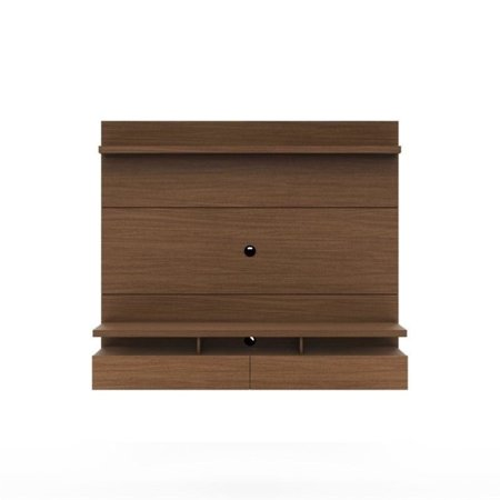 City 1.8 Floating Wall Theater Entertainment Center-Finish:Nut Brown