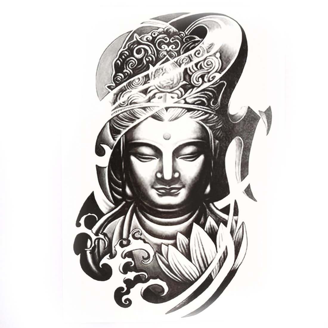 Body art buddha pattern removable decor paper sticker decal temporary tattoo