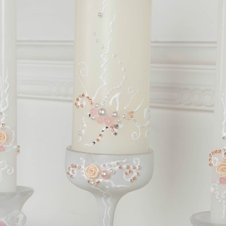Handmade Wedding Memorial Candle In White With A Glass Candleholder, Custom personalized Memory Candle, Wedding Reception for $<!---->