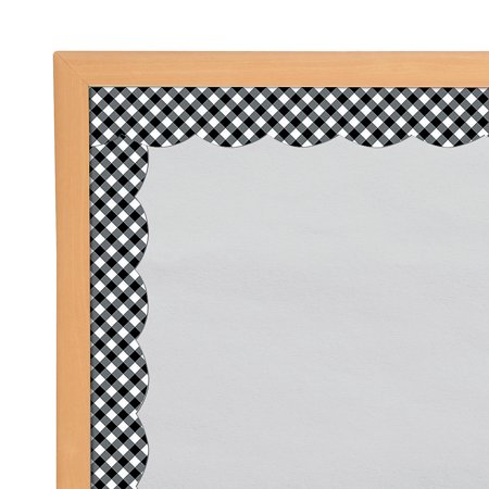 Fun Express - Sgs Black And White Gingham Bb Border - Educational - Classroom Decorations - Bulletin Board Decor - 13 Pieces](Decorating Classroom)