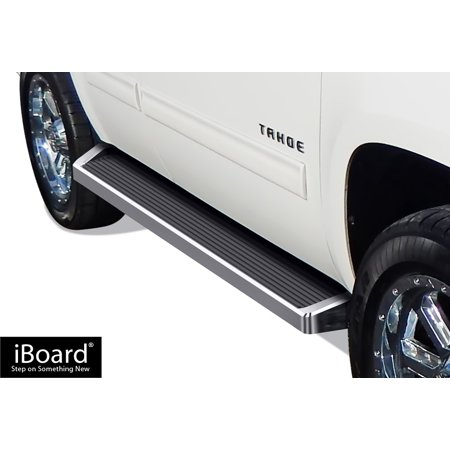 iBoard Running Boards Style Custom Fit 2005-2019 Chevy Tahoe / GMC Yukon Sport Utility 4-Door (Excl. Z71 & Hybrid Models) & 2002-2006 Avalanche Crew Cab (Nerf Bars | Side Steps | Side Bars)