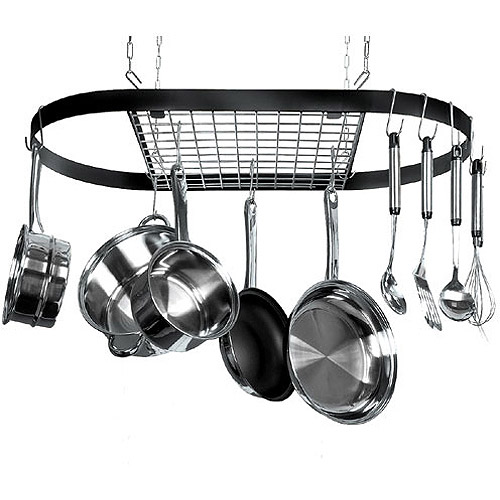 Classicor 12-Hook Ceiling Mounted Pot Rack, Iron
