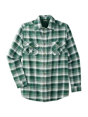 Men's Big & Tall Long-sleeve Plaid Flannel Shirt