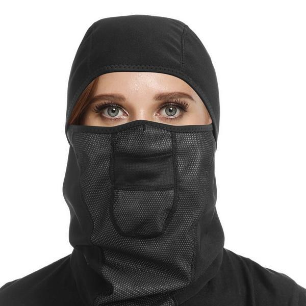 Outdoor Wind-Resistant Face Mask Hinged Fleece Balaclava Ski Neck Protection by Generic