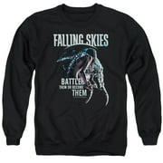 Falling Skies Battle Or Become Mens Crewneck Sweatshirt