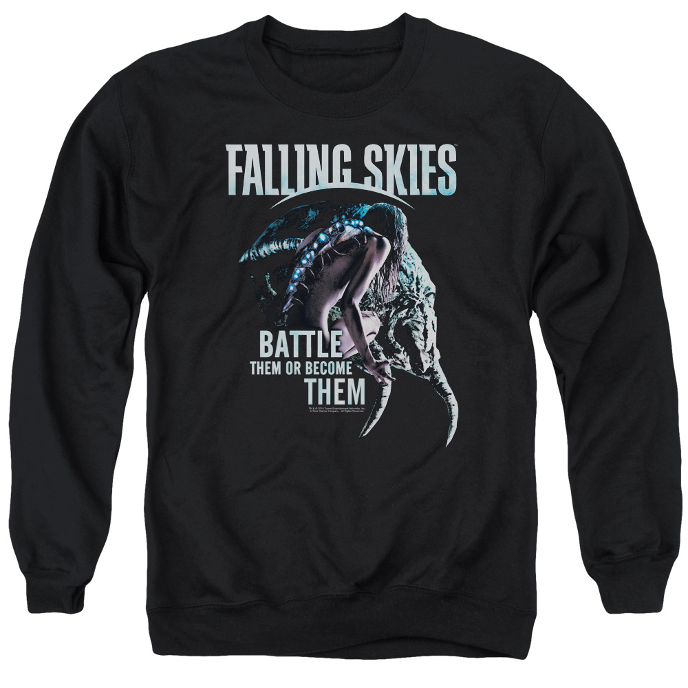Falling Skies Battle Or Become Mens Crewneck Sweatshirt