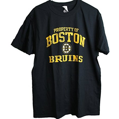 Nhl Boston Bruins Property Of Distressed Logo Adult Men  39 S T Shirt Large