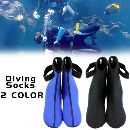 - 1 Pair Neoprene Scuba Diving Snorkeling Surfing Swimming Socks Water Sports Boots, Diving Sock, Neoprene Sock Blue