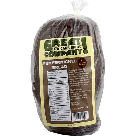 Great Low Carb Bread Company - 1 Net Carb, 16 oz, Pumpernickel Bread - Halloween Food Bread