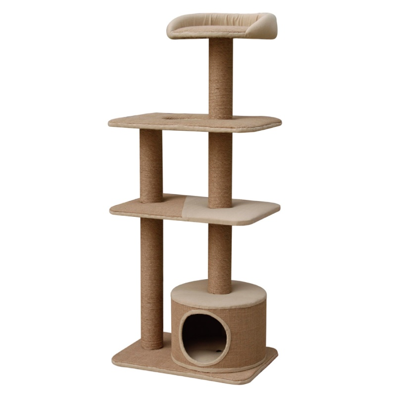 Pet Pals Four Level Recycled Paper Cat Playhouse with Con...