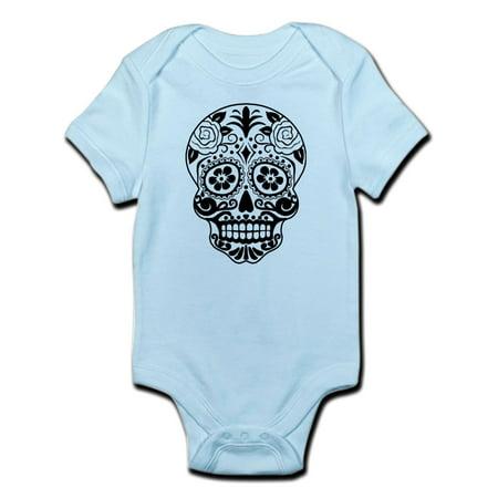 CafePress - Sugar Skull Black And White Body Suit - Baby Light Bodysuit](Black And White Baby)