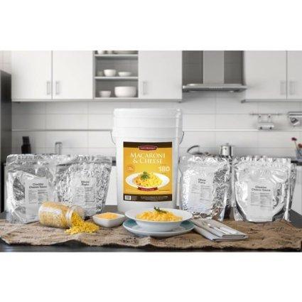180 Servings of Macaroni & Cheese Storage Bucket Gamma Li...