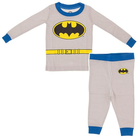 Batman Long Sleeve Cotton Little Boys Pajamas