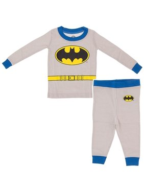 Dc Comics Batman Grey Cotton Tight Fit Pajama Set(Little Boys & Big Boys)