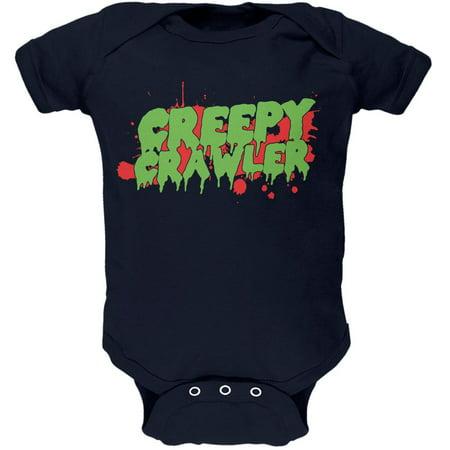 Creepy Baby Costumes (Halloween Creepy Crawler Navy Soft Baby One)