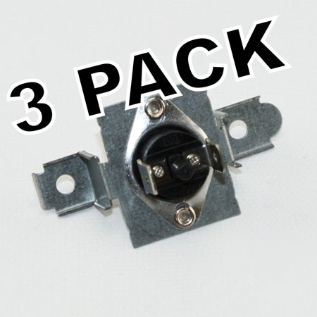 3 Pk, Dryer High Limit Thermostat, for LG Brand, AP4457603, (Lg Dryer Keeps Blowing High Limit Thermostat)