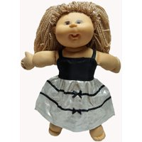 Doll Clothes Superstore Silver And Black Evening Dress Fits Cabbage Patch Kid Baby And 18 Inch Girl Dolls