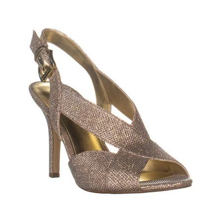 Womens MICHAEL Michael Kors Becky Cross Strap Dress Sandals, White/Silver/Silver Michael Kors Womens Dress Sandal