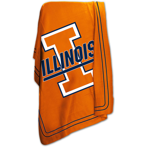 "Logo Chair NCAA Illinois 50"" x 60"" Classic Fleece Throw"