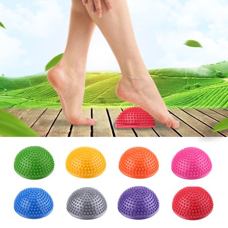 PVC Inflatable Half Yoga Balls Massage Point Fitball Exercises Trainer Fitness Balance Ball,Foot Massage Ball, Yoga Half
