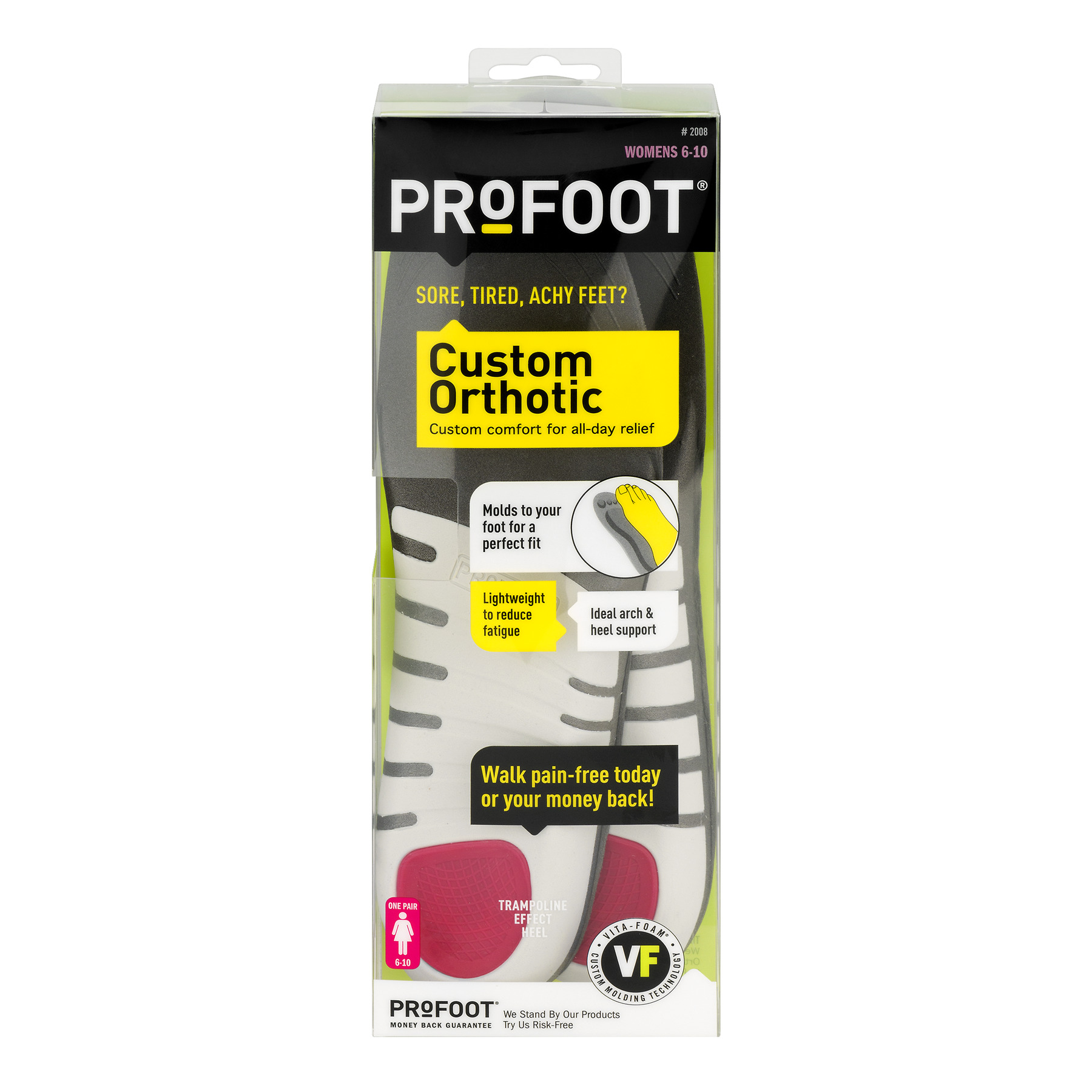 Profoot Custom Orthotic Women 6-10 - 1 CT1.0 CT
