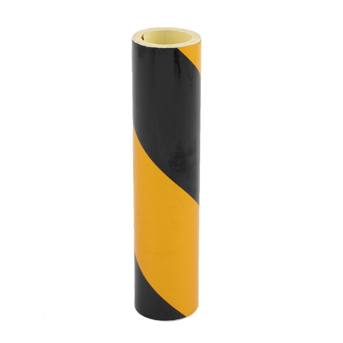 15cm x 2M Single Sided Adhesive Reflective  Warning Tape Tilt Black Yellow - image 2 of 3