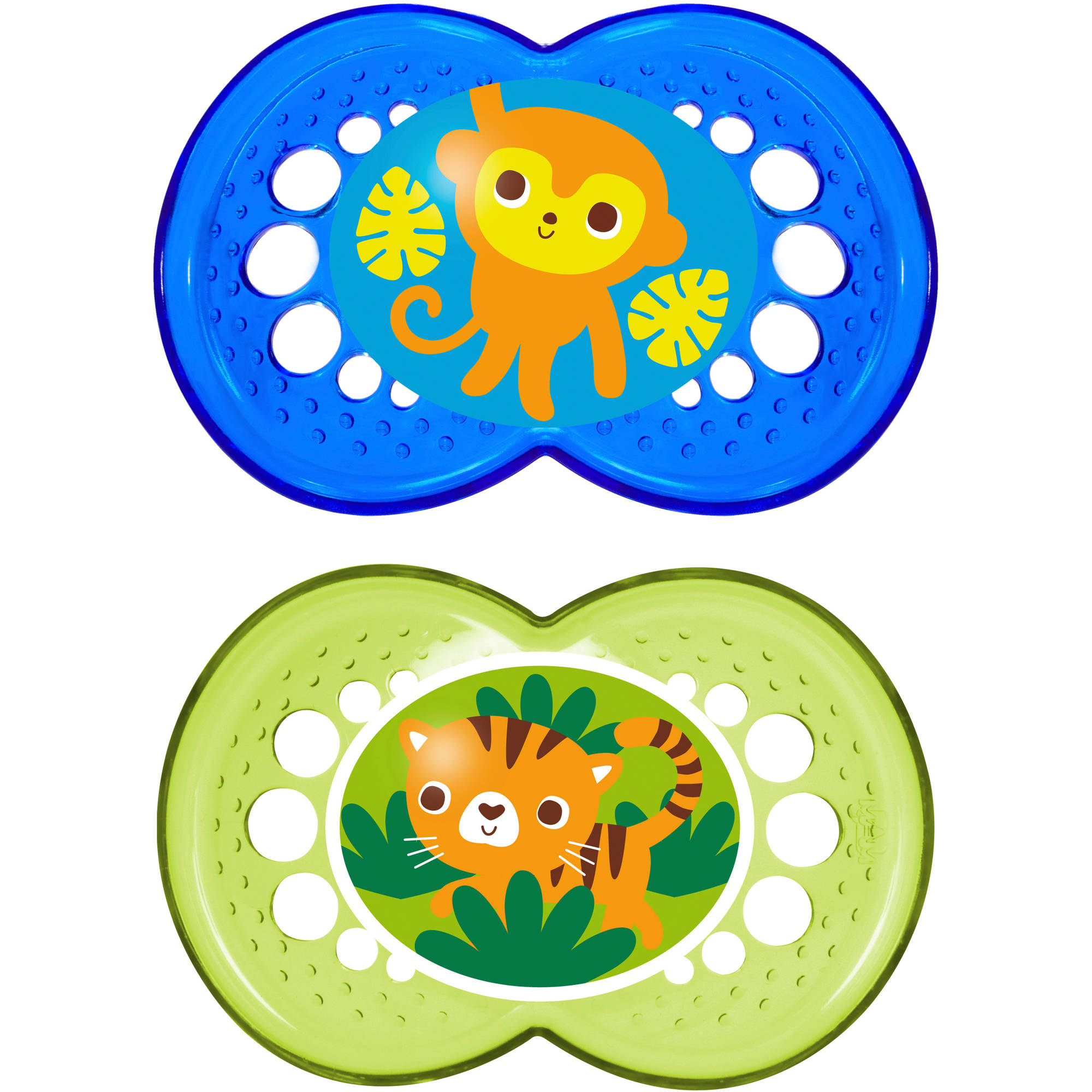 MAM Bright Silicone Pacifier, 2pack