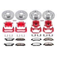 Power Stop KC2070-36 Z36 Truck & Tow Performance Brake Kit W/Calipers -Front & Rear