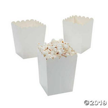 Mini Popcorn Boxes - White - Teacher Resources & Birthday Supplies