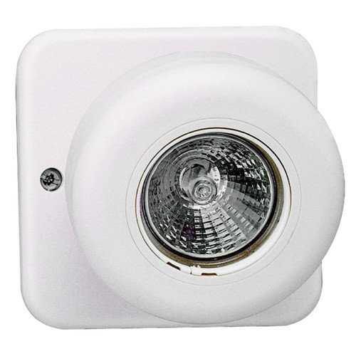 Royal Pacific Round Halogen Remote Head for Emergency Light in White