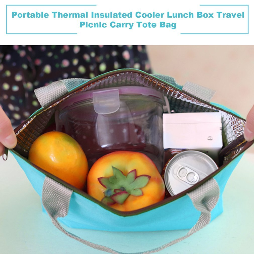 Hot Insulated Tinfoil Aluminum Cooler Thermal Picnic Lunch Bag Waterproof Travel Tote Box Fashion 5 Candy Colors