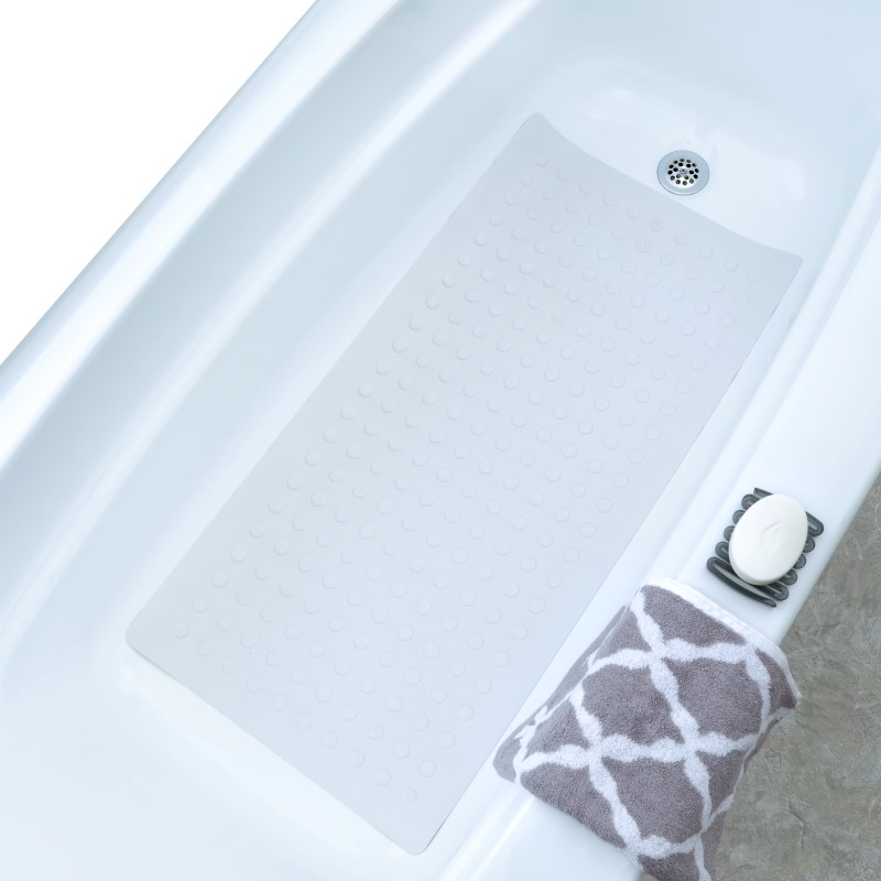 SlipX Solutions Extra Long Rubber Bath Safety Mat