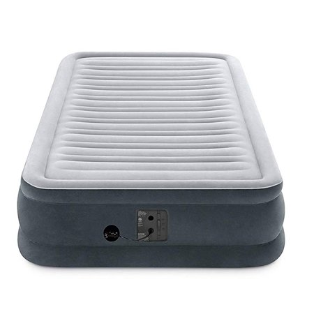 Intex 13u0022 Intex Dura Beam Plus Series Mid Rise Airbed Mattress with Built In Electric Pump