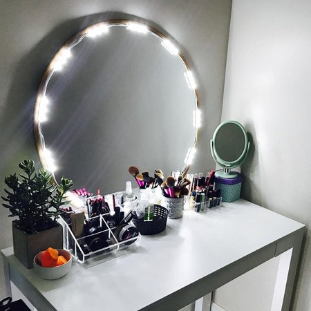 Large Four Light Vanity - Lighted Mirror LED Light for Cosmetic Makeup Vanity Mirror Kit