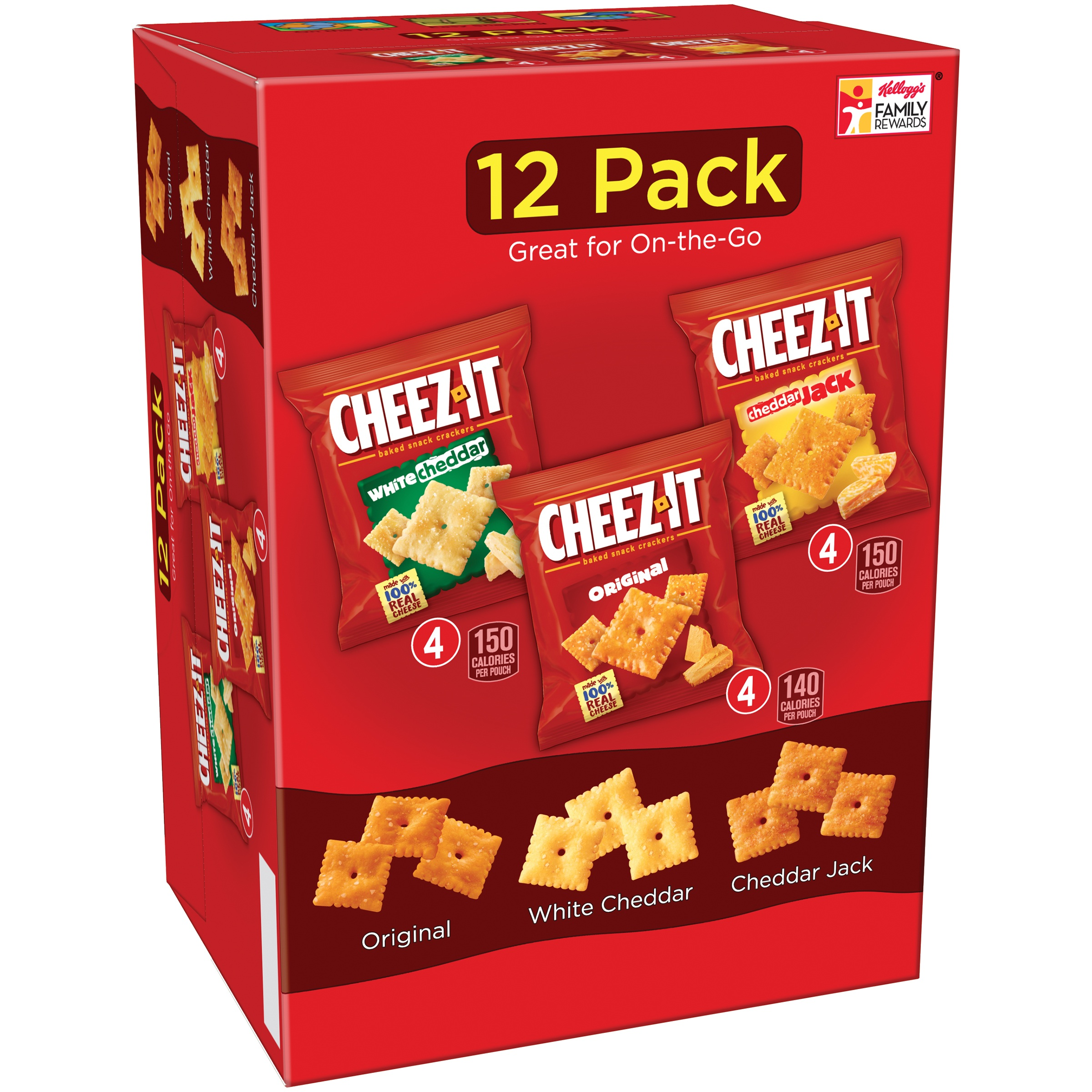Cheez-It Baked Snack Crackers Variety Pack 12.1 oz. Box by Sunshine Biscuits, LLC