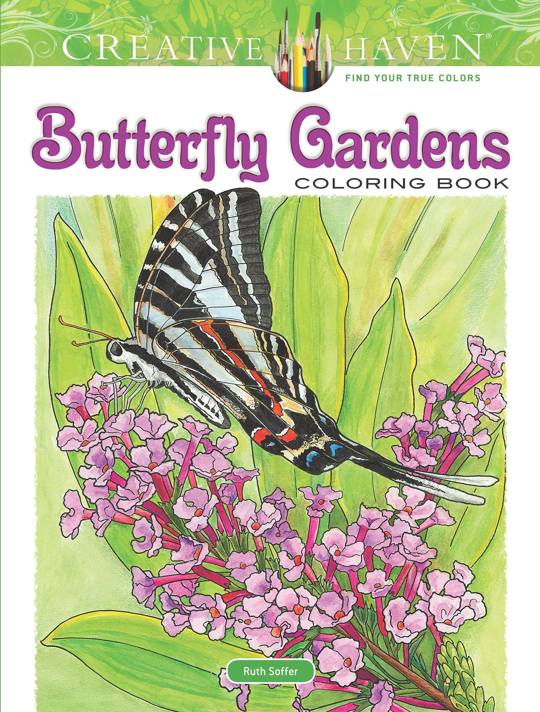Creative Haven Coloring Books: Creative Haven Butterfly ...