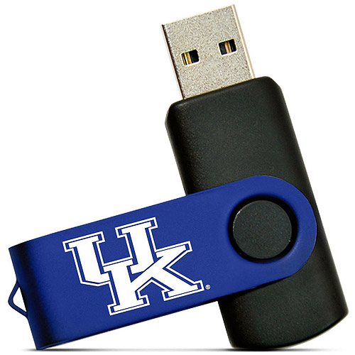 Tribeca Spirit Swivel 4GB USB Flash Drive, University of Kentucky, Medium Blue