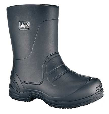 Shoes For Crews Size 12 Plain Toe Boots, Unisex, Black, 5005