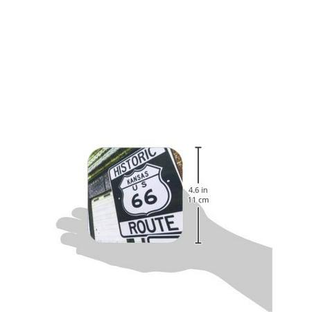 3Drose Galena  Kansas  Usa  Route 66   Soft Coasters  Set Of 8