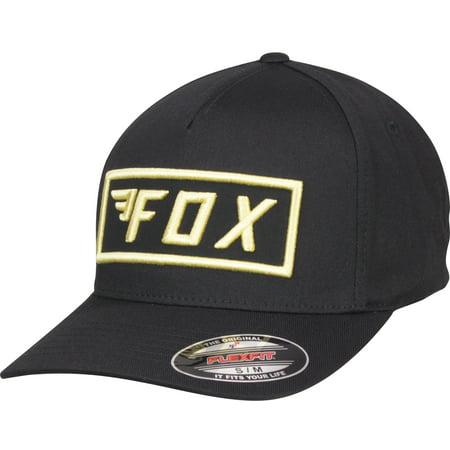 Fox Racing Mens Stealth Flexfit Hat - Black (Fox Racing Black Belt)