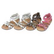 Toddler Little Girl Shoes Studded Strap Leather Spring Sandals 7-4