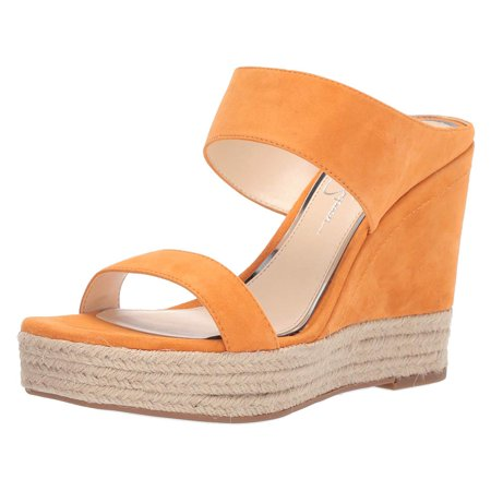 Jessica Simpson Women's Siera Leather Wedge Sandal Shoes