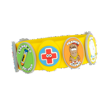 Allermates - Multi Allergy Wristband Kit with Charms 6 (Wristband Kit)