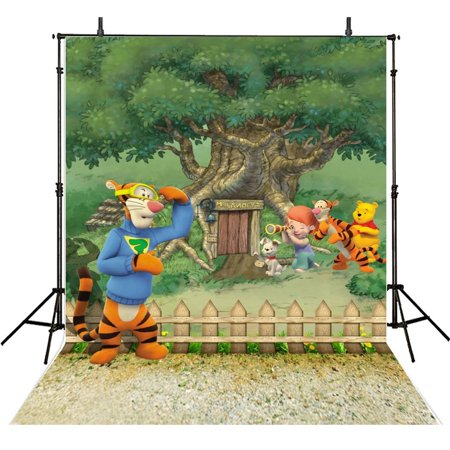 GreenDecor Polyster 5x7ft Children Photography Backdrops Animals Photo Backgrounds Photographic Backgrounds Zoo Backgrounds (Zoo Background)