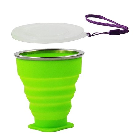 Wealers Collapsible Travel Mug Silicone Bpa-free 7 Ounce Foldable Cup Dishwasher Safe Pop up Cup. Cool Funny Unique Camping Travelling Gear Supplies