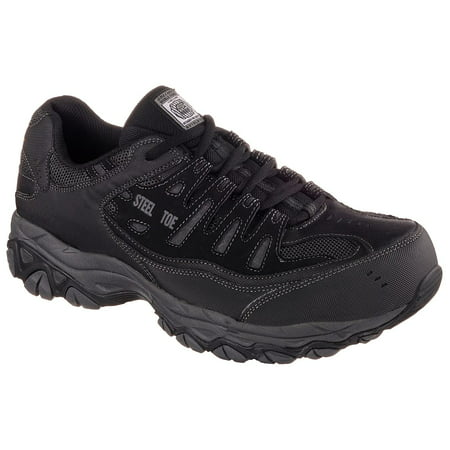 Skechers Work Men's Relaxed Fit Crankton Steel Toe Safety Shoe ()