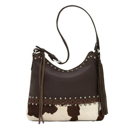 764ebb3b79aa American West Wild Horses Zip-Top Shoulder Bag