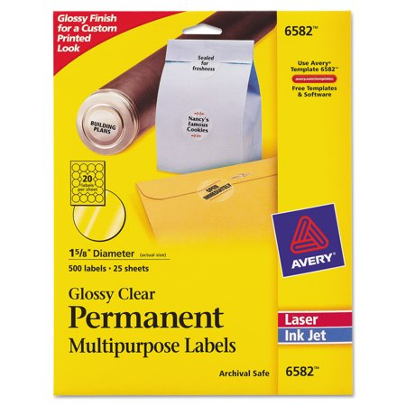 Avery Round Print To The Edge Permanent Labels 1 23 Dia Glossy